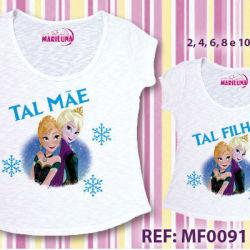 Camisetas Personalizadas Tal Mãe Tal Filha Frozen Varejo