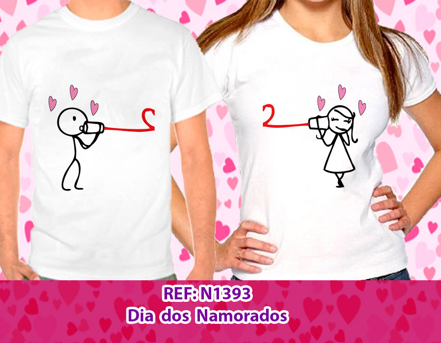 7636c89d66 Camisetas Dia dos Namorados o Par - Feirinha da Madrugada