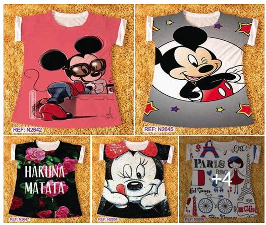 T-shirts Atacado Fortaleza R$14,99 - 10 peças
