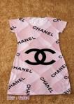 Vestido Atacado Curto Personalizado Minnie Chanel