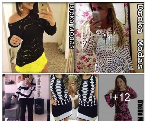 Vestidos e Conjuntos em Trico - Dreka Modas