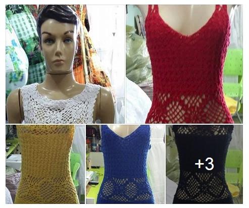 Vestidos Longos de Crochet Atacado