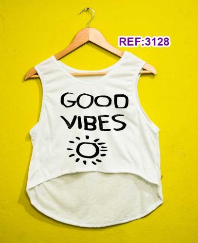 Regata Cropped Tshirt Feminina Atacado R$11,99