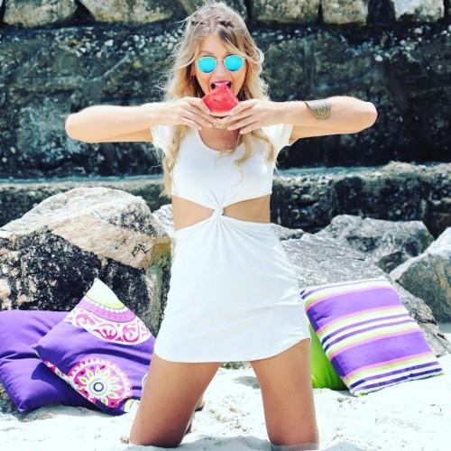 Vestido com Nozinho Atacado Moda Blogueira