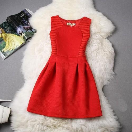 Vestido Curto Liso Tubinho Casual Vermelho