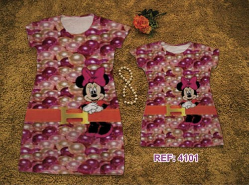 Vestido Mae e Filha Minnie Perolas R$39,90 Atacado