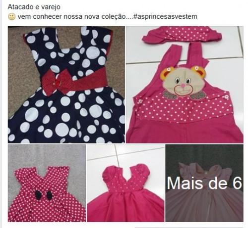 Vestido Infantil Jardineira R$15 Atacado