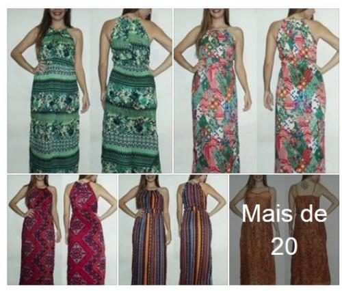 Vestidos Longos Viscose R$25 Atacado