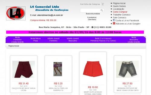 L4 Comercial Atacadista de Confecções