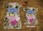 Vestidos Peppa Pig Tal Mãe Tal Filha R$39,90 o Conjunto