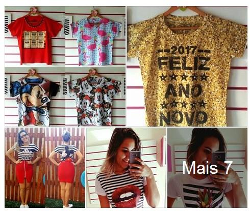 Tshirts Atacado R$17 Doce Mania