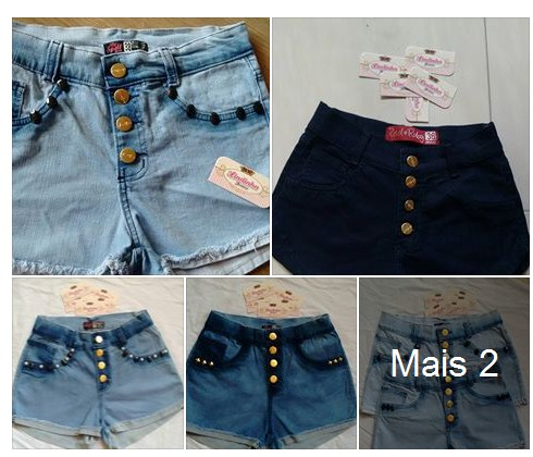Short Jeans feminino R$15 Para Revenda Barato
