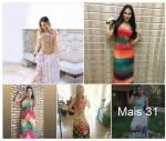 Vestidos Longos Estampados R$30 Atacado