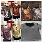 Regatas e Camisetas Metalizadas Tendencia R$22 Atacado
