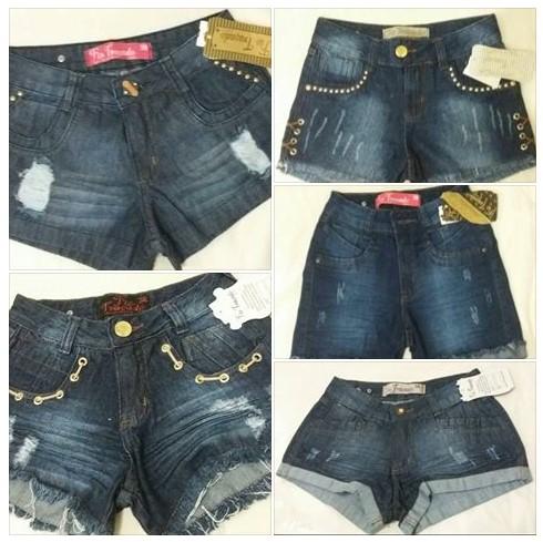 Short Jeans HotPant Fio Traçado R$28 Atacado