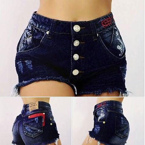 Short Jeans Feminino Hotpant R$27 Atacado