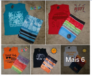 Conjunto Blusa e Short Surf Infantil R$10