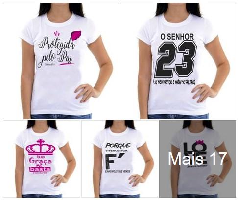 Tshirts Religiosas Evangelicas R$10 Atacado Mariluna
