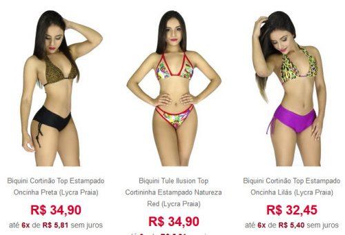 Bravaa Biquini Moda Praia Atacado R$34,90 Rio de Janeiro