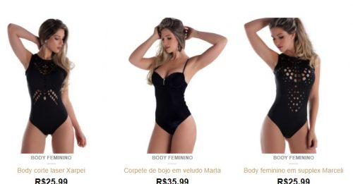 ClickSophia Body Feminino Direto da Fabrica