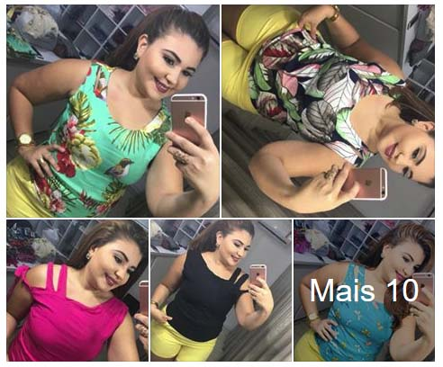 Blusa Viscose R$17 Moda Plus Site Alplussize Atacado em Fortaleza
