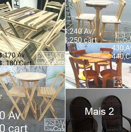 Mesas e cadeiras R$ 170 Espaço das Cadeiras - Fortaleza
