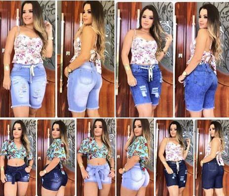 Short e Pedal Jeans Atacado Fortaleza